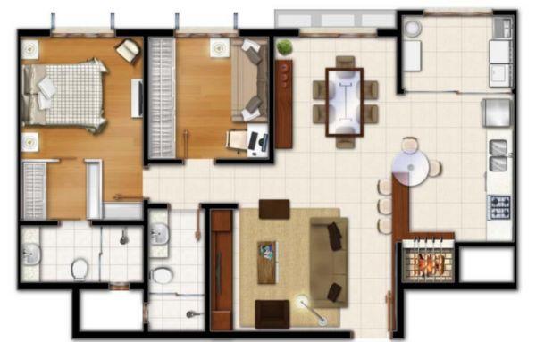 10 - planta 02 dormitórios